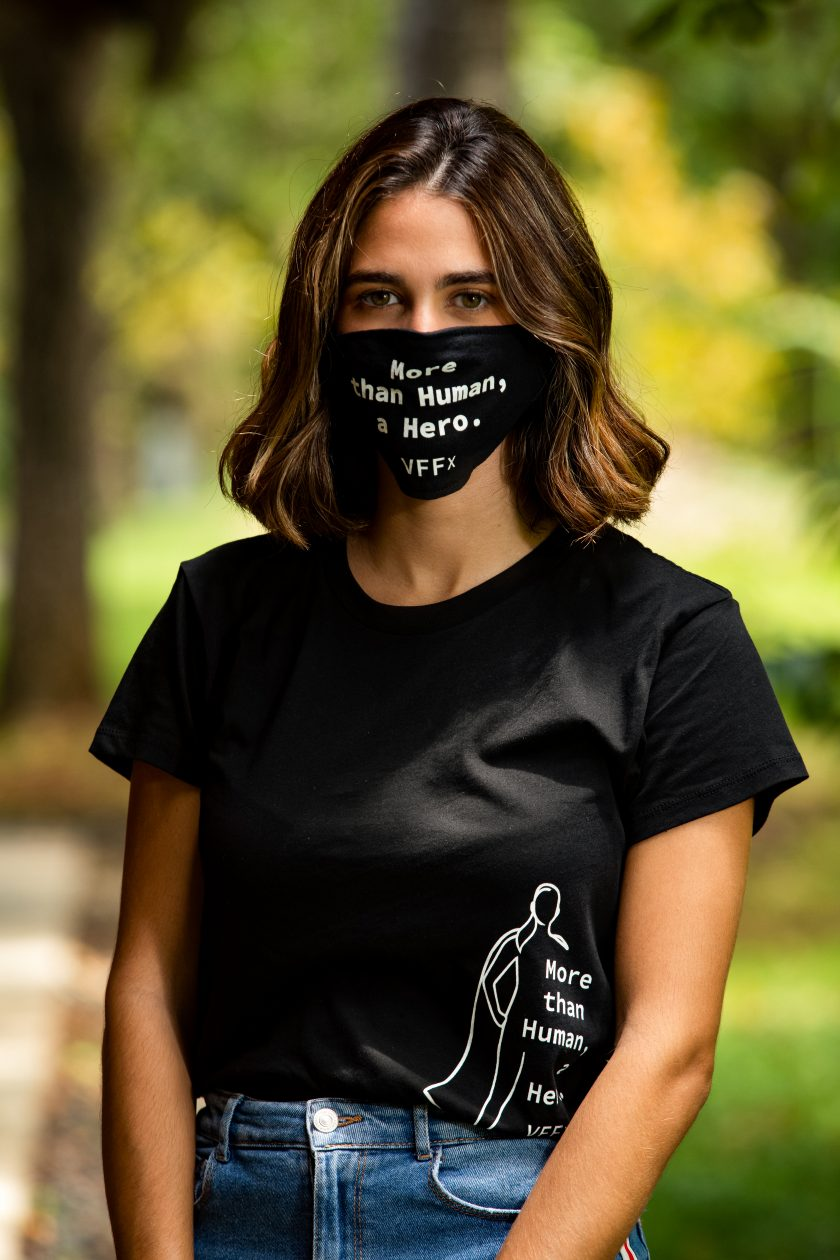 She's a Hero T-Shirt and mask